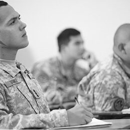 Soldiers are briefed on GoArmyEd programs available through their Tuition Assistance benefits. All Soldiers beginning education programs and those making changes to current courses of study must engage the online VIA decision support tool before meeting with counselors to select a specific program.